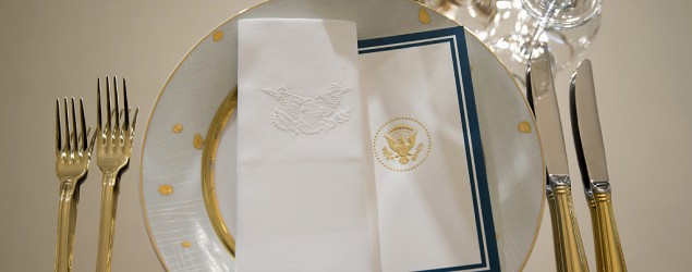 The table service for the Obama White House