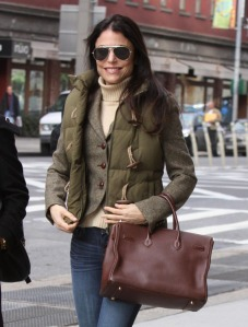 Bethenny Frankel leaving Trump Soho Hotel after lunch meeting in NYC
