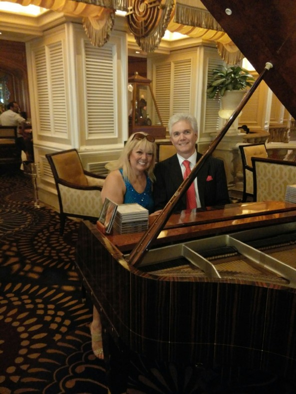 I have made friends all over the city of Las Vegas. This is my friend, Whitney, a classic pianist at the beautiful Bellagio.